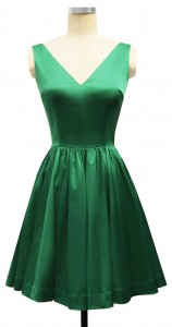 Green Satin Ballerina Dress