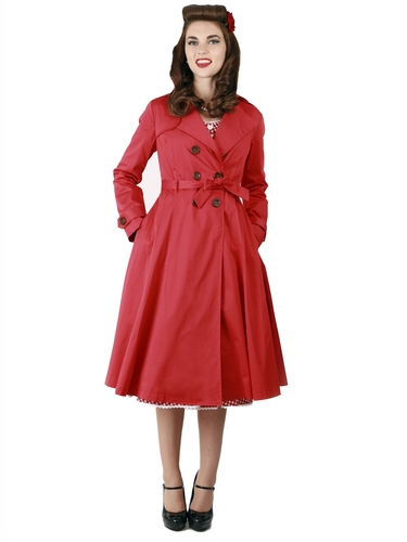 Dietrich Swing Trench Red TOP VINTAGE RETAIL ONLY