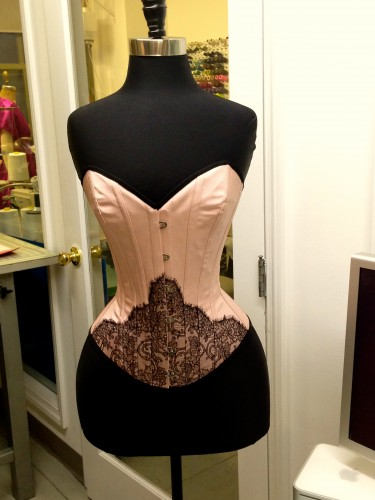 Pièce de résistance (in my mind, at least), the Evelyn corset.