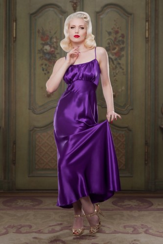 AW1415-Bettie-Heather-Silk-Night-Gown-Front-Betty-Blues-Loungerie-682x1024