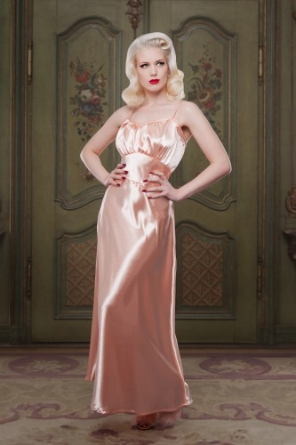 AW1415-Bettie-Peach-Satin-Night-Gown-Betty-Blues-Loungerie