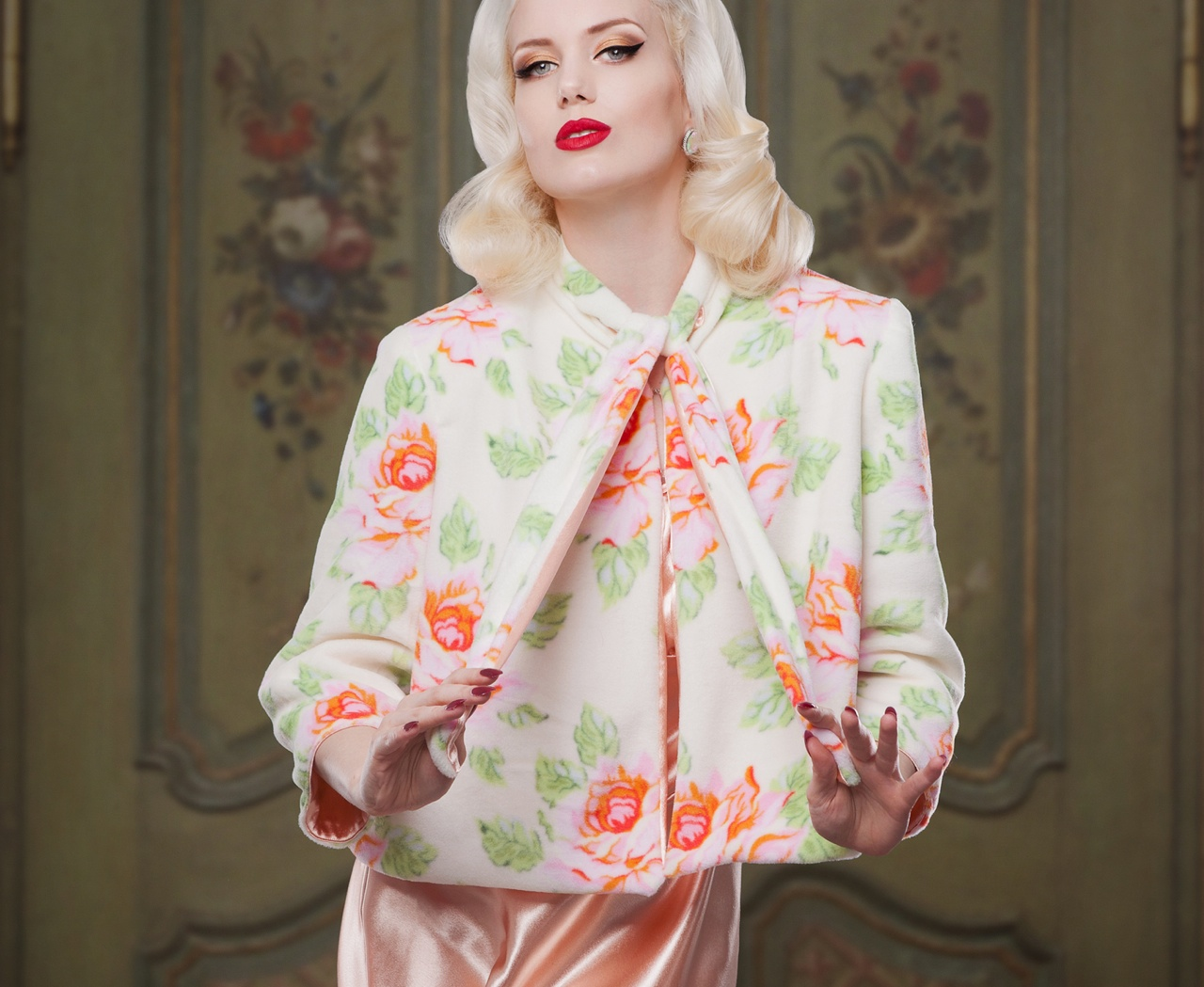 AW1415-Bettie-Reversable-Bed-Jacket-Front-Fleece-Betty-Blues-Loungerie