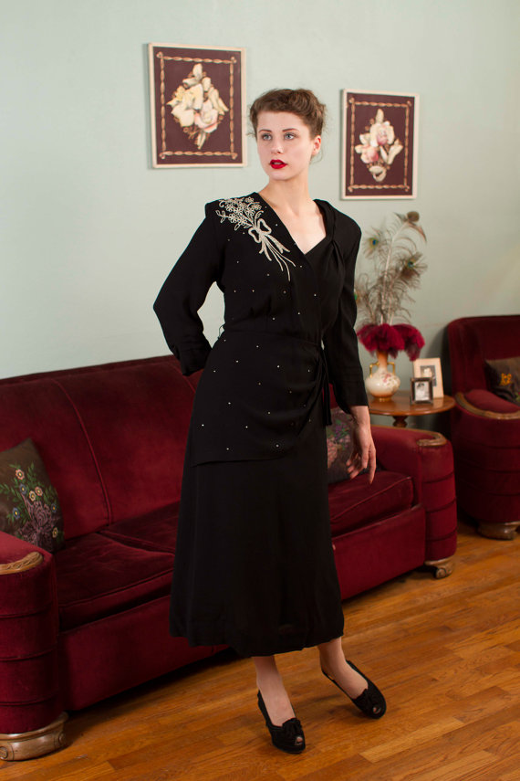 9 Plus Size Formal Gowns from the 1940\'s - The Full Figured ...