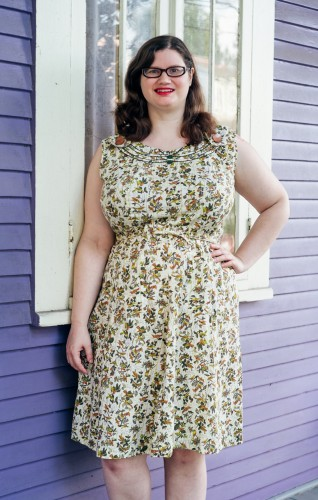 Bird Novelty Print Dress by CalenderGirlVintage