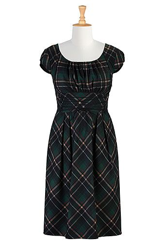 Plaid Dress by eShakti