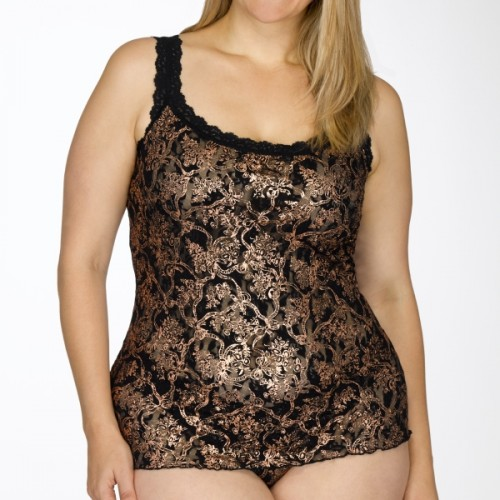 Unlined Filigree Plus Size Cami by Hanky Panky