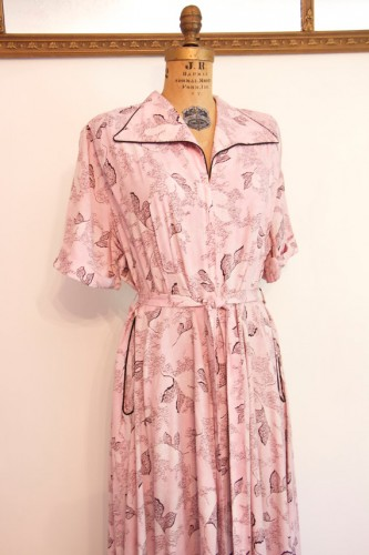 Vintage Saybury Novelty Print Housedress
