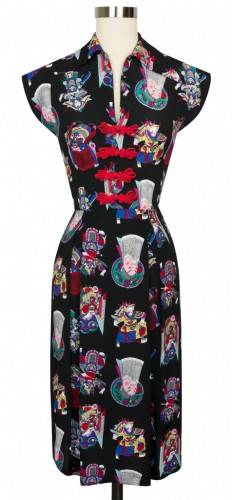Day Dress in Chinese Opera Print
