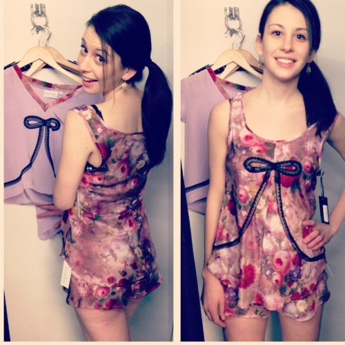 Deco Cami and Tap Short in  China Rose