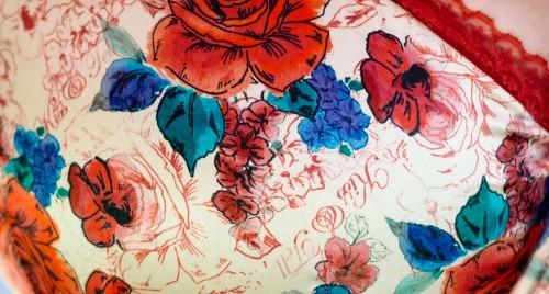 Tutti Rouge floral print- close up