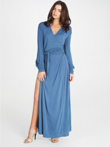 Kate Maxi Robe in Teal by Dear Bowie