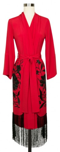 Red Flapper Robe by Trashy Diva