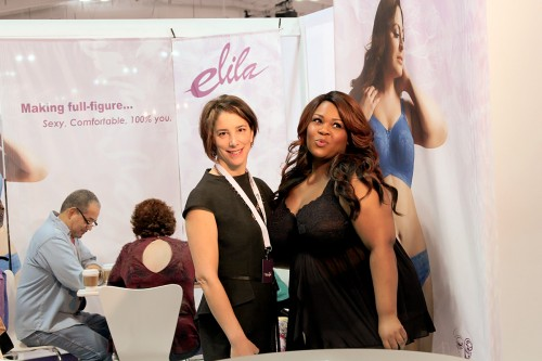 Asia Monet in the Elila booth