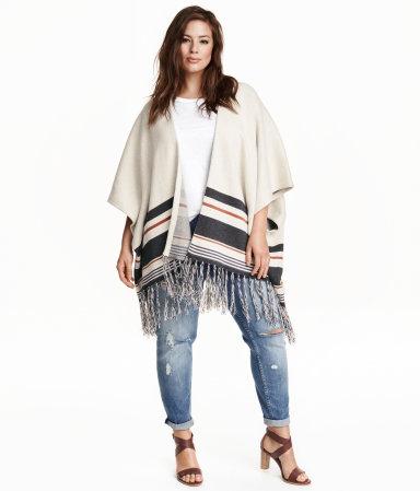 H&M+ Fine-knit Poncho