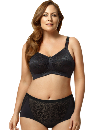 Leopard Lace Softcup set in Black by Elila