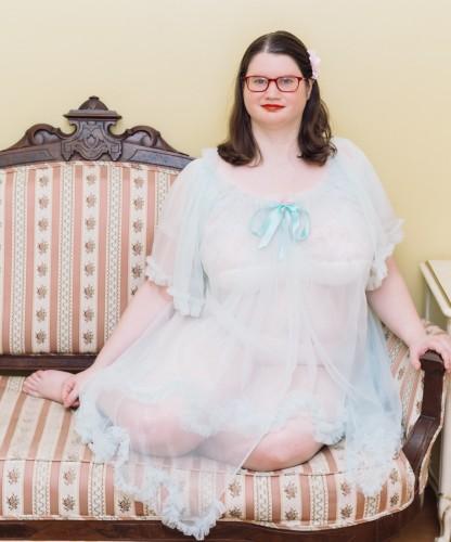 Sheer Short Dressing Robe by Dottie's Delights